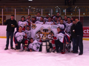 The 2013 winners of the OAC hockey tournament
