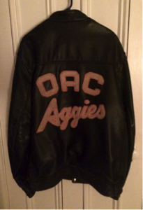 "An ""aggie"" jacket"
