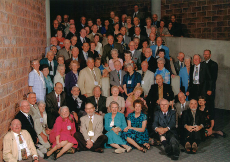 The OAC '53 classmates at their 50th class reunion - photo courtesy of www.uoguelph.ca